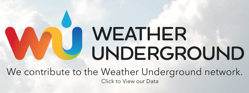 We contribute our weather data to Weather Underground to help meterologists and enthusiasts.