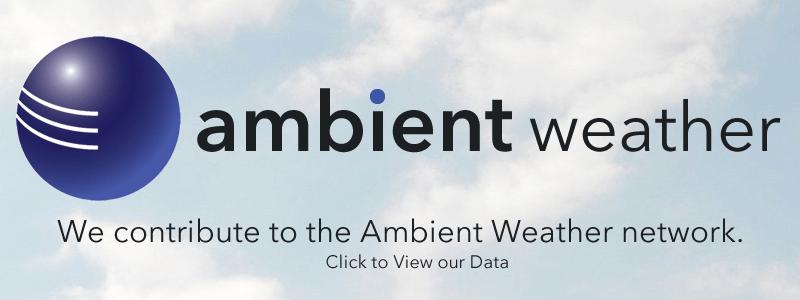 We contribute our weather data to the Ambient Weather network, for personal weather enthusiasts.