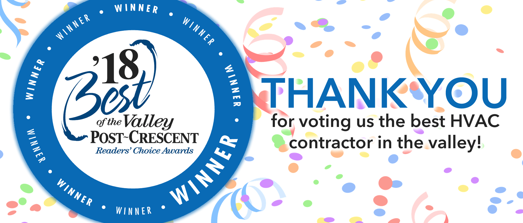 Thanks for voting us the best of the valley!