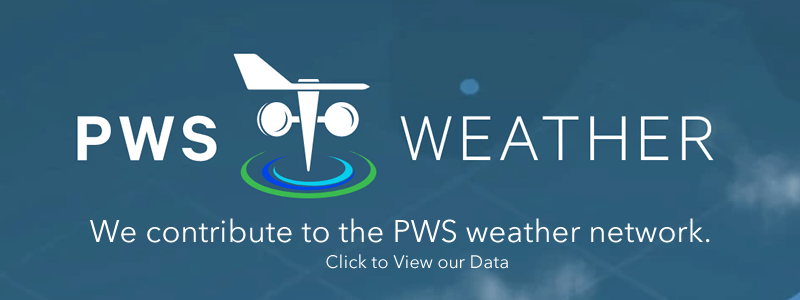 We contribute our weather data to PWS Weather which helps professional meterological services and analytic companies.